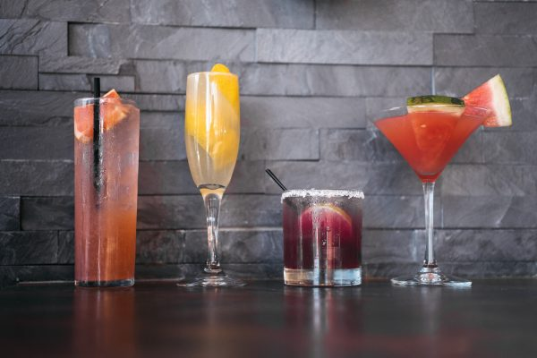 An assortment of Sedona Taphouse cocktails.